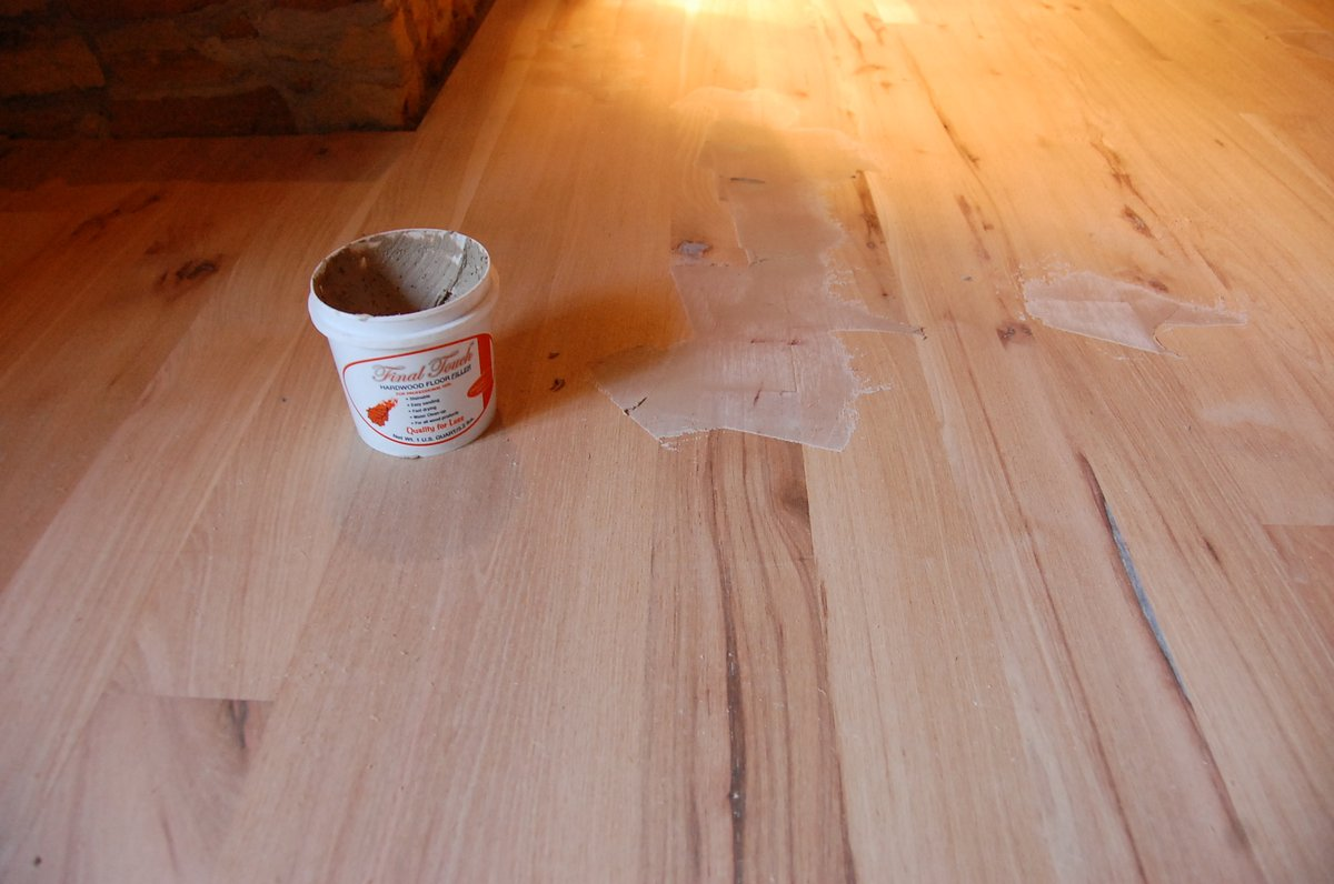 If A Customer Would Like To Include Most All Possible Character In Their Hardwood Floor It Is Simple Fill Large The Voids With Fiberglass Resin